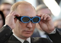 "President Putin dons goggles saying ""That Obama is brilliant!"""