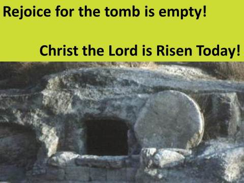 The Tomb Is Empty!